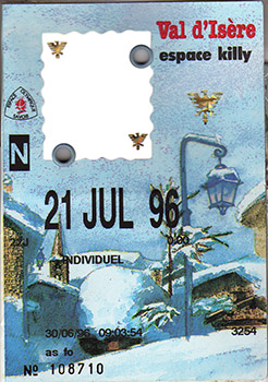 [Val d'Isère]Anciens forfaits Val Forfait1996