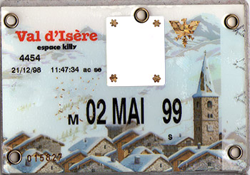 [Val d'Isère]Anciens forfaits Val Forfait1999