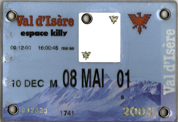 [Val d'Isère]Anciens forfaits Val Forfait2001