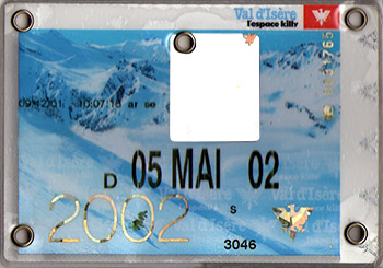 [Val d'Isère]Anciens forfaits Val Forfait2002